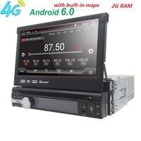 1 DIN Car DVD Player 7Inch HD Car Video Player GPS WiFi Handfree Multimedia Player In