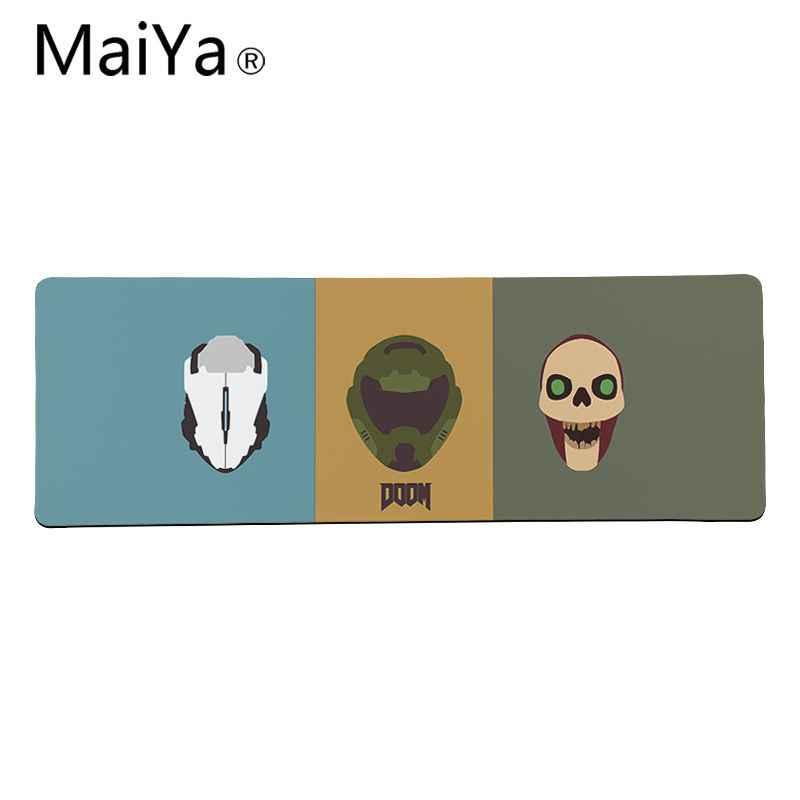 Maiya Top Quality DOOM gry klawiatury mata gumowa podkładka pod mysz gamingową podkład na biurko darmowa wysyłka duża podkładka pod mysz klawiatury Mat