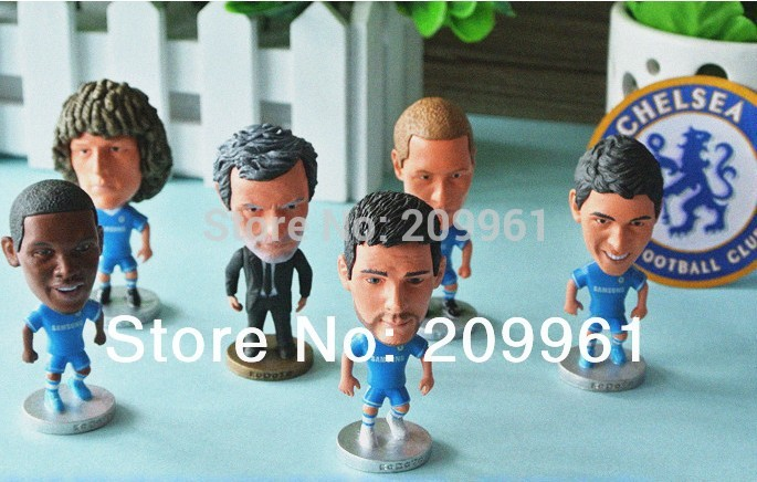 11pcs/set KODOTO Chelsea football soccer player star collection dolls cartoon toys Lampard PEDRO OSCAR WILLIAN HAZARD CECH kodoto soccerwe roma totti football soccer moveable star collection dolls toy figures