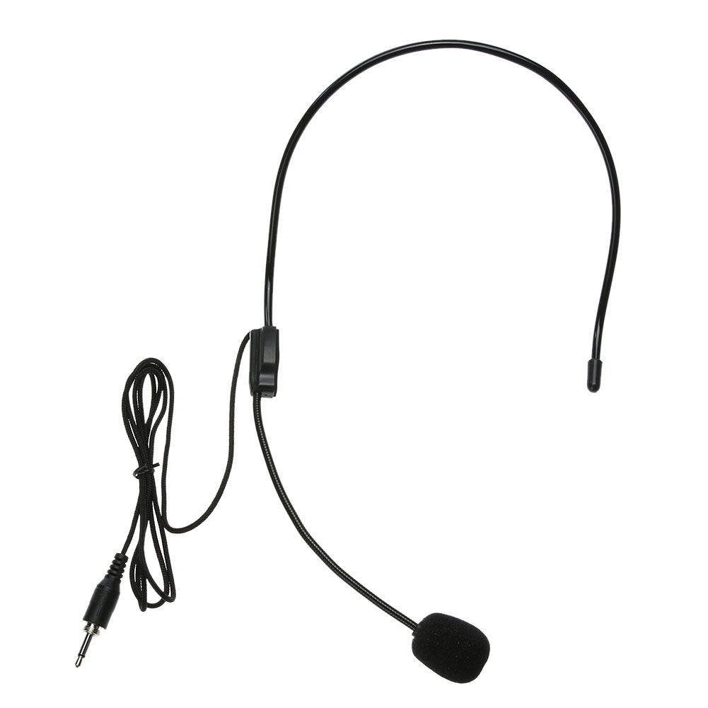 Mini Portable Lightweight Headset 3.5mm Thread Jack Condenser Microphone Single Direction 3.5mm 100-16kHz Microphone P4PM