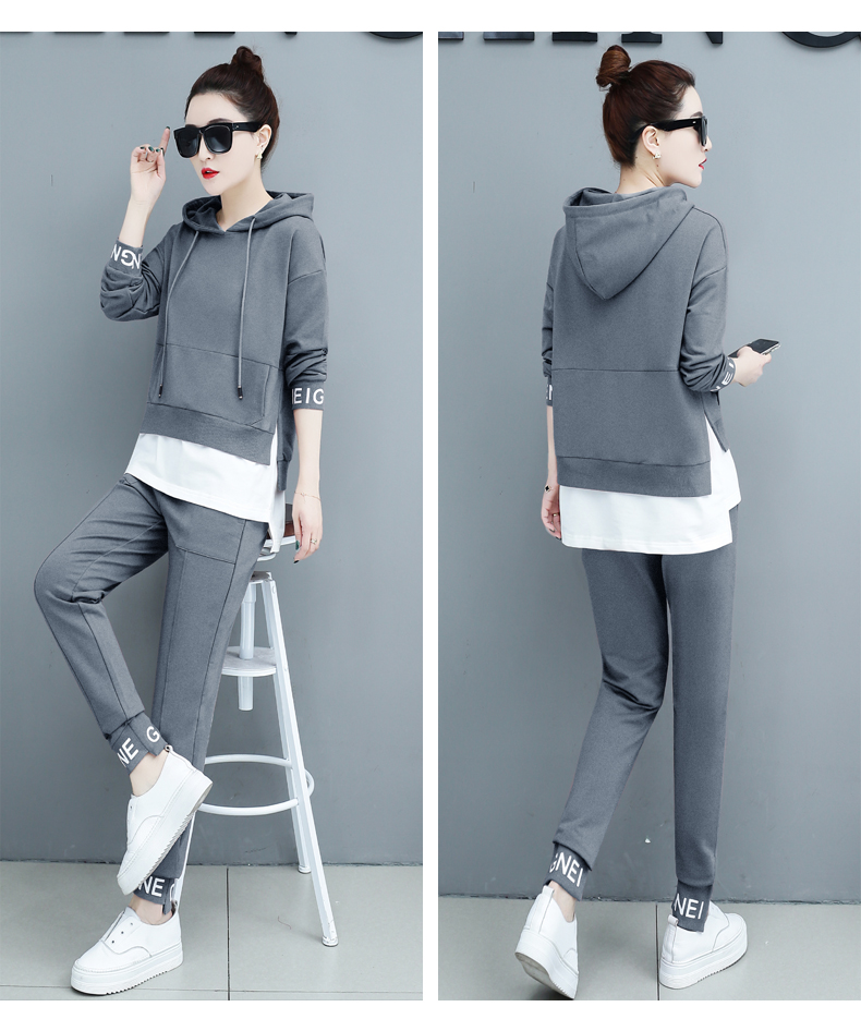 Autumn Sport Two Piece Sets Tracksuits Outfits Women Plus Size Hooded Sweatshirts And Pants Korean Casual Fashion Matching Sets 58