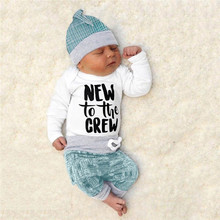 Get more info on the Newborn Baby Boys Girls Striped Letter Print Tops+Pants+Hat Casual Set Winter Clothes For Baby Clothing