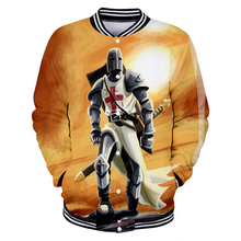 Knights Templar 2019 Kpop New 3D casual slim baseball jacket Leisure HIP HOP long-sleeved trend uniform