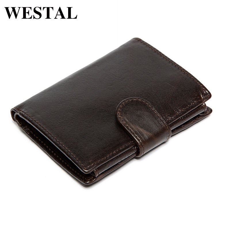 WESTAL Oil Waxing Men Wallet Genuine Leather Wallet Man Coin Purse Wallets Card Holder Men Wallets Male Clutch Credit Card9049 men wallet male cowhide genuine leather purse money clutch card holder coin short crazy horse photo fashion 2017 male wallets