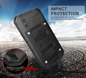 Image 4 - 3 Layers Hybrid Waterproof Shockproof Phone Cases for iPhone X 8 7 6 6S Plus 5 5S SE PC+TPU with Glass Phone Shell Case