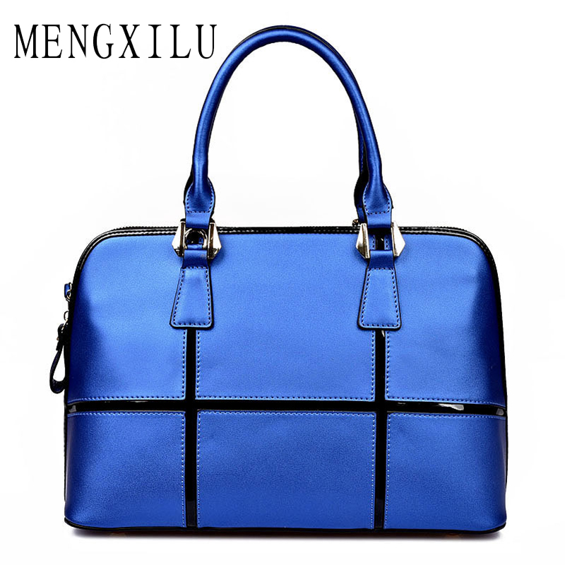 MENGXILU Genuine Leather Bag Famous Brands Women Messenger Bags Fashion Women Handbags Designer High Quality Women Bag Shoulder new fashion luxury women bags handbags women famous brands shoulder bag designer tote high quality patent leather messenger bag