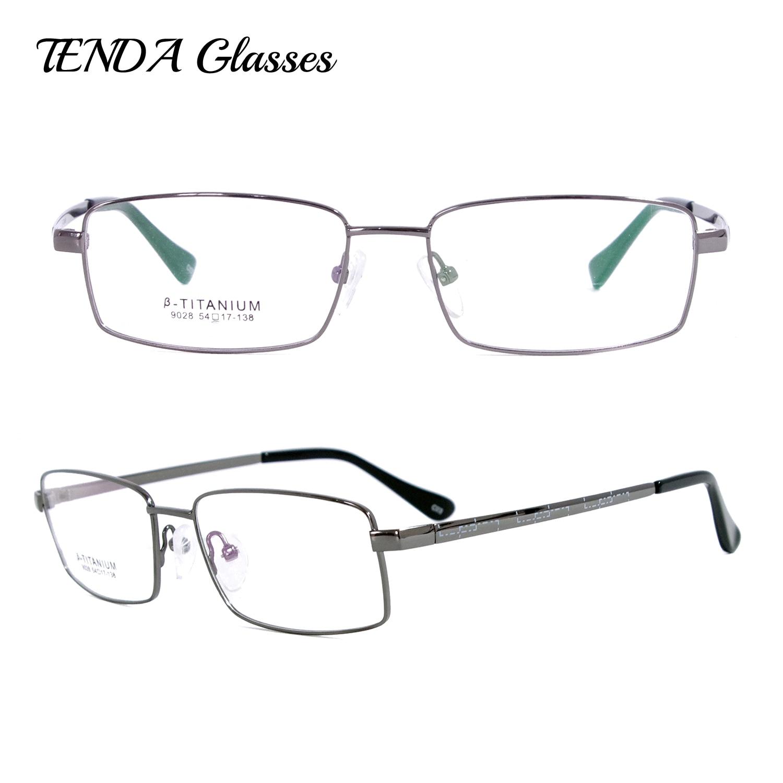 Homens de negócios Flexível Armações de óculos de Aro Cheio De Titânio Para  Óculos de Leitura e15a87b881
