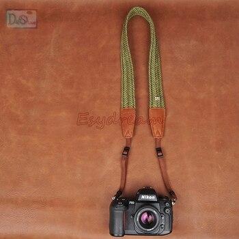Зеленый Cam-в Универсальный хлопок камеры шеи переноски плечевой ремень для Sony Sigma Kodak Panasonic Fujifilm
