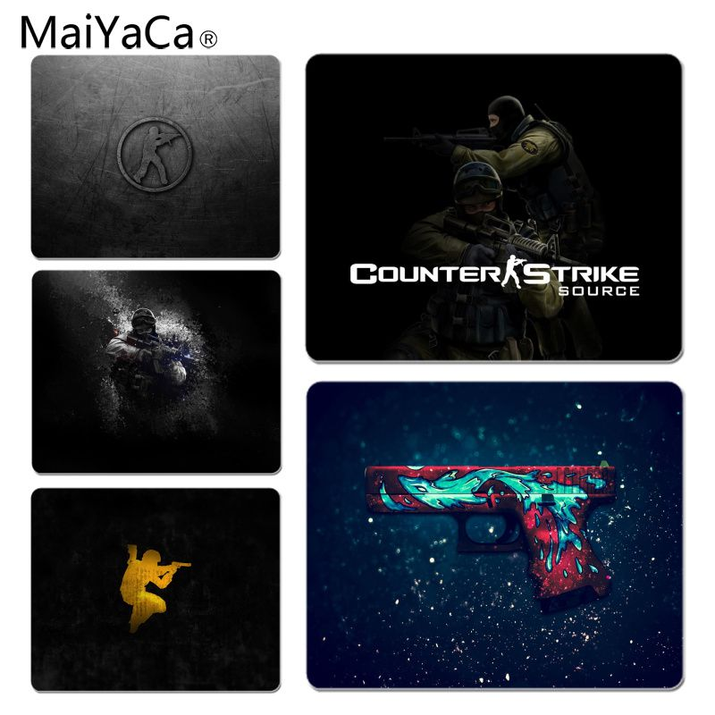 MaiYaCa Custom Skin CS Counter Strike Go Desktop Background Gamer Speed Mice Retail Small Rubber Mousepad Size for 18x22cm