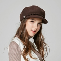 New Arrival Fashion Beret Hat Adult Woolen Fedora Hat Girls Fashionable Visor Cap Students Leisure Travel Hat Casual Hat B 7885