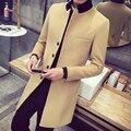 Хан издание мужская зима чистый цвет код ветровка моды ткань пальто из воспитать в себе мораль