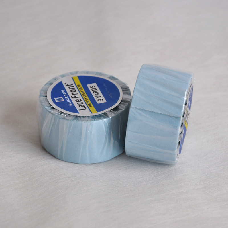 2.54cm (1 polegada) * 3 jardas forte azul laço frente suporte fita dupla face fita adesiva do cabelo para a extensão da fita/peruca de peruca/laço