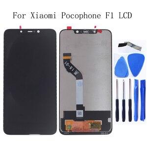 Image 1 - Оригинальный ЖК экран 6,18 дюйма для Xiaomi Pocophone F1, ЖК дисплей для Xiaomi Pocophone F1, дигитайзер сенсорного экрана, Замена + Инструменты