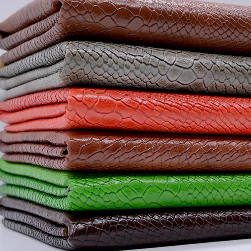 100*135cm Snake Leather Fabric Pu Leatherette Material Holographic Upholstery Fabric For Furniture Purse Chairs Waterproof Tissu