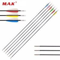 12 Pcs Fiberglass Solid Arrow 26 28 30 Inches Diameter 5 Mm 6 Color Vanes For