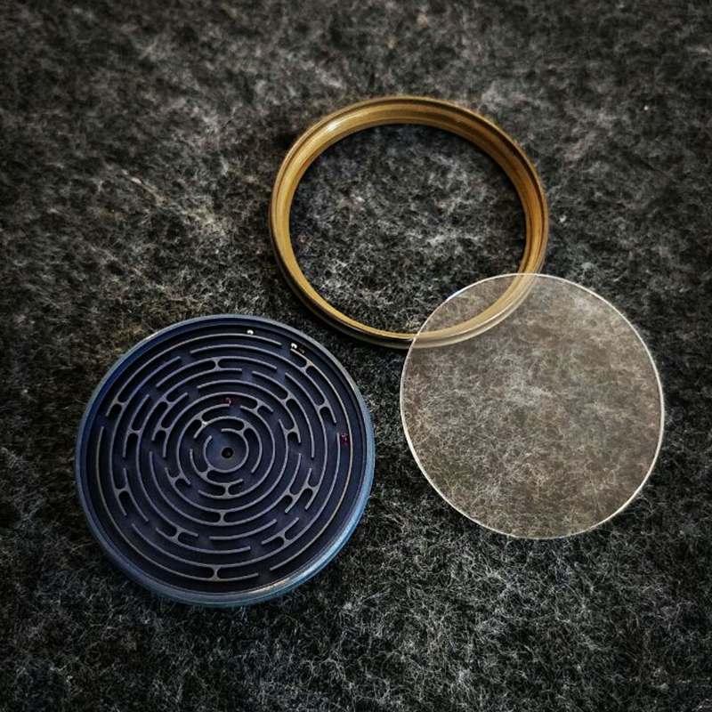 EDC Titanium legering doolhof labyrint puzzel Pocket speelgoed gereedschap vingertop volwassenen stress reliever speelgoed outdoor EDC doolhof gereedschap - 2