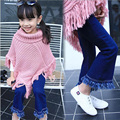 New Spring Autumn Girls Pants Tassel Baby Girls Jeans Fashion Children Jeans Casual Girls Denim Pants 2-8y Girl Trousers