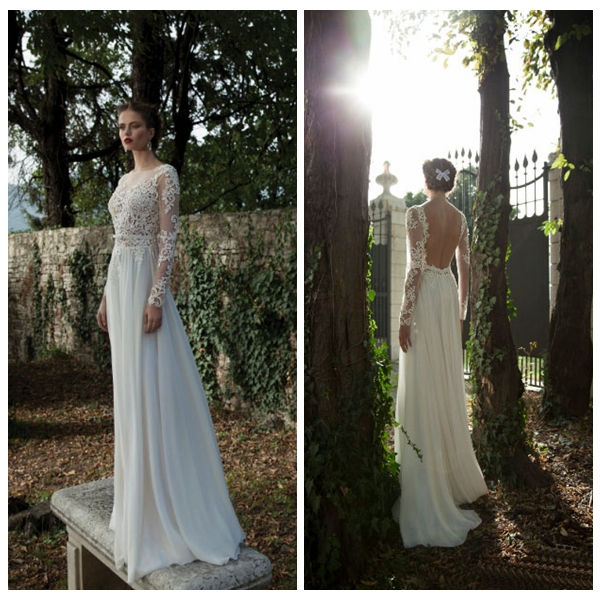Vestidos De Novia De Gasa Y Con Manga Larga - Vestido de novia