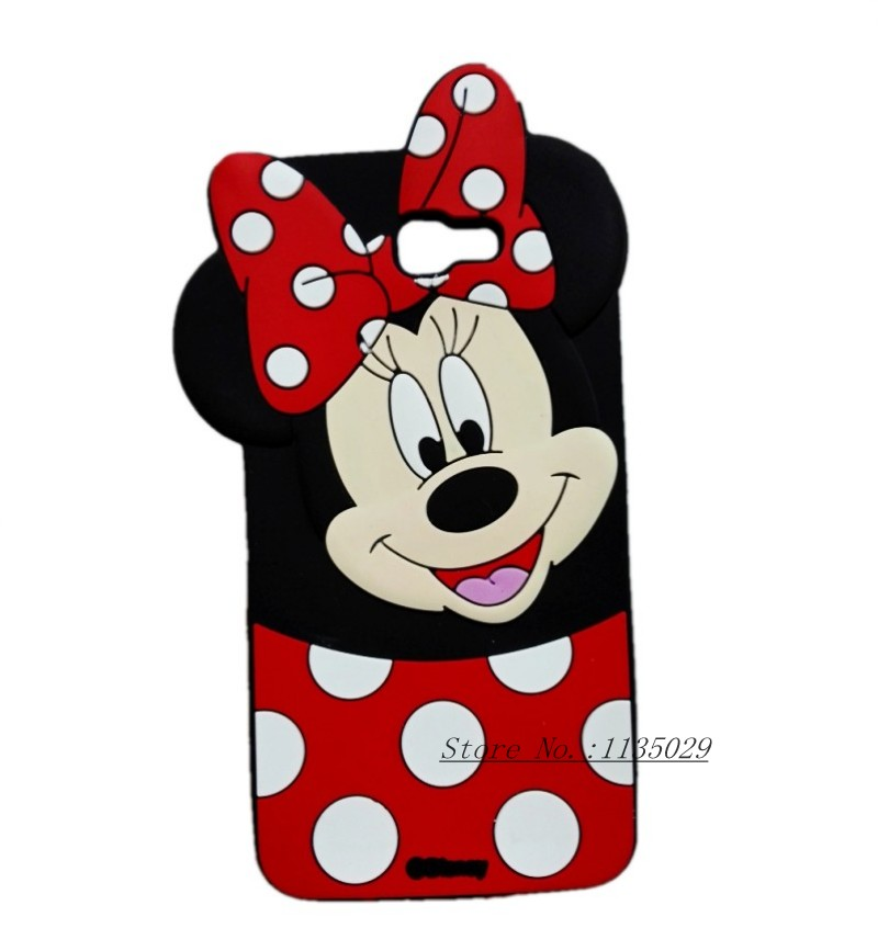 New Cute Cartoon Minnie Mouse 3D Silicon Phone Cover Case For Samsung Galaxy J5 prime On5 2016