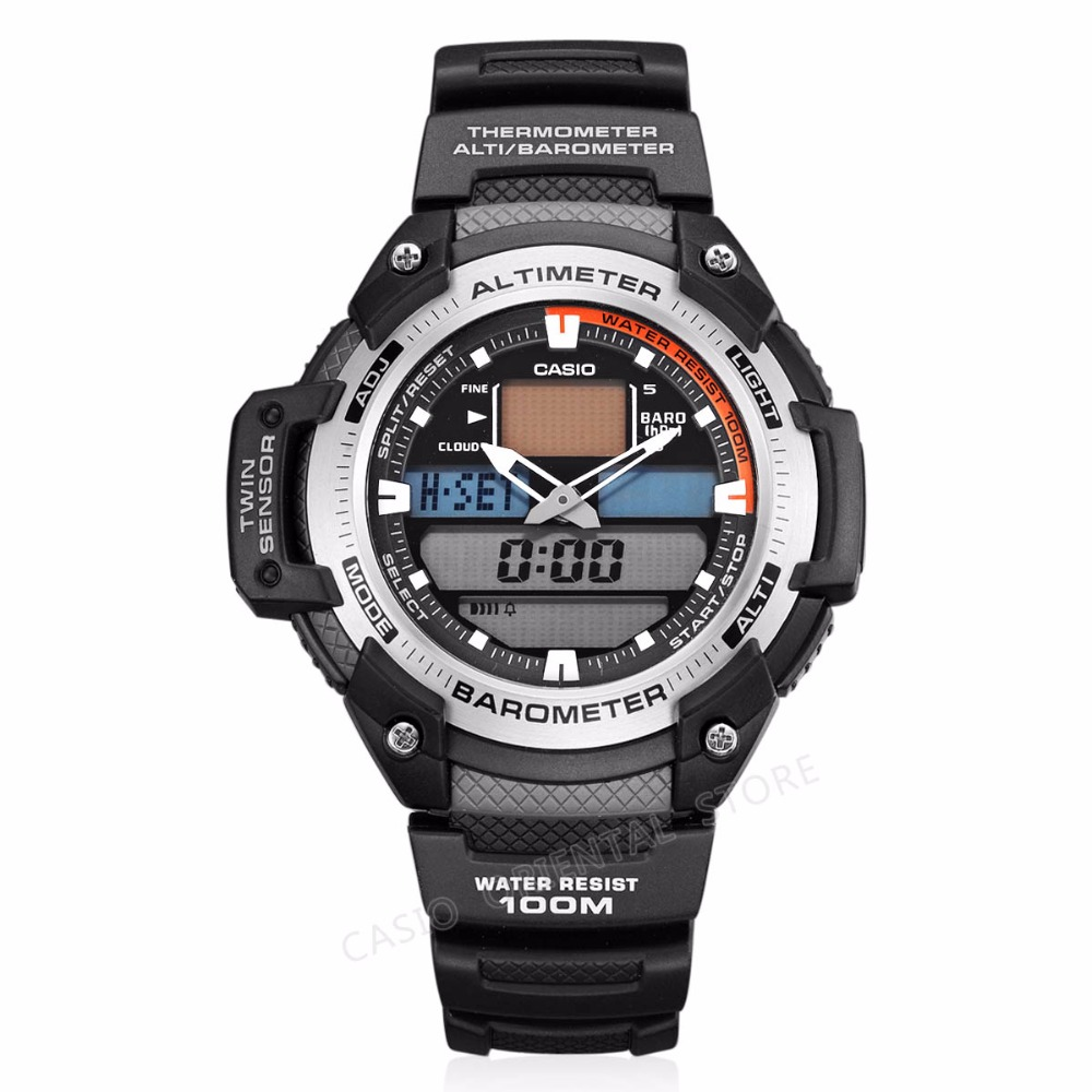 CASIO WATCH 2017 Chronograph Sport Mens Watches Top Brand Luxury Military Quartz Watch Clock Relogio Masculino SGW-400H-1B