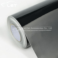 1.52x30m/Roll Black Bright Glossy Black Vinyl Car Decal Wrap Sticker Black Gloss Film Wrap For HOOD Roof Motorcycle Scooter