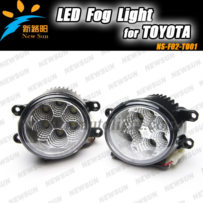 16W High Power LED Fog Lights Assembly Fog Lamps Kit OEM Replacement For Toyota Camry Corolla WISH PRADO LAND CRUISE Highlander fit for 02 08 toyota solara camry corolla oe fog light smoke lamps wiring kit included usa domestic free shipping hot selling