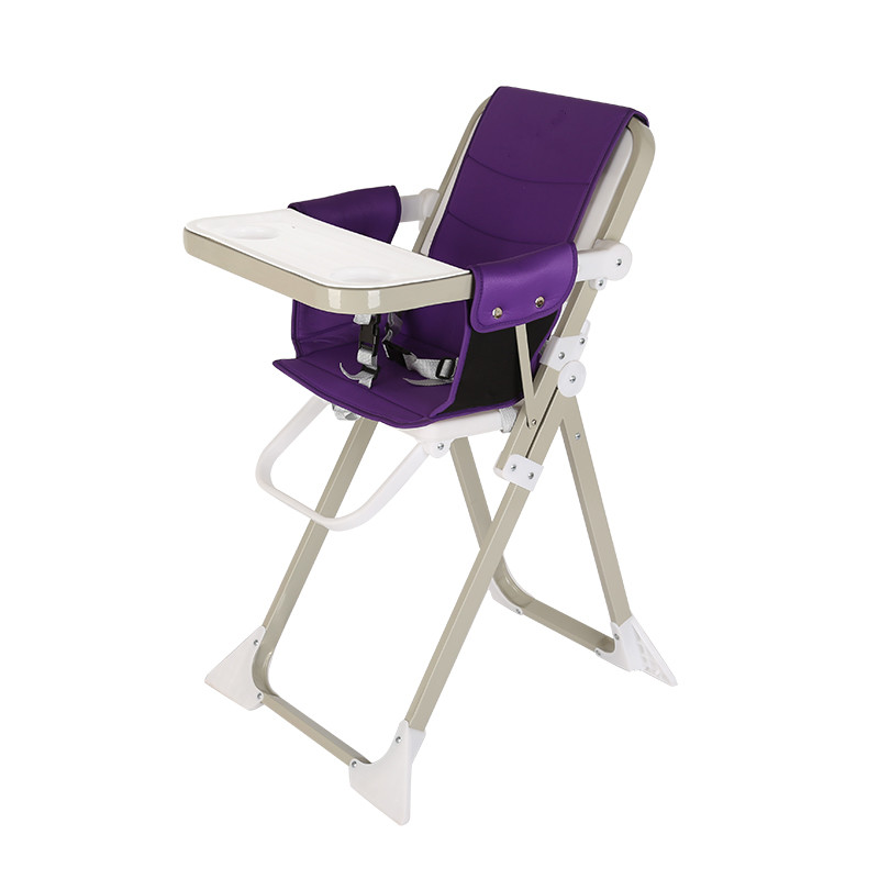 Children's Dining Chair, Foldable Baby Fee Chair, Portable Dining Table, Lightweight 4.9KG Baby Highchair