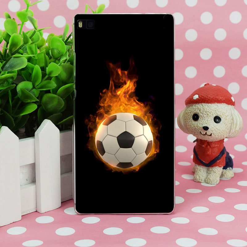 G98 Fire Football Soccer Ball Transparent Hard Thin Skin Case Cover For Huawei P 6 7 8 9 10 Lite Plus Honor 6 7 8 4C 4X G7