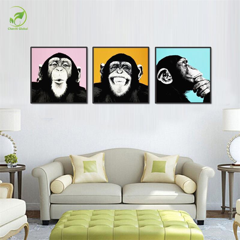 Online Get Cheap Monkey Pared Cuadros Para La Sala -Aliexpress.com ...