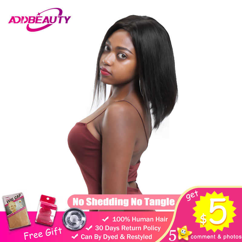 13X4 13x6 pelucas de pelo Remy humano cortas de encaje para mujeres negras 1B 613 rubias parte media recta brasileña densidad 180%
