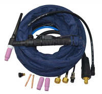 WP 18FV 12 TIG Welding Torch Complete Water Cooled 350Amp Flexible & Gas Valve TIG Head Body