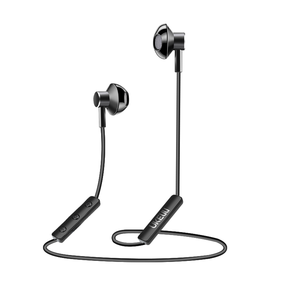 Fineblue UK-S1 Bluetooth Wireless Headphones Stereo Halter-neck Earpiece Neckband Earphone Intelligent Sport Headset with Mic