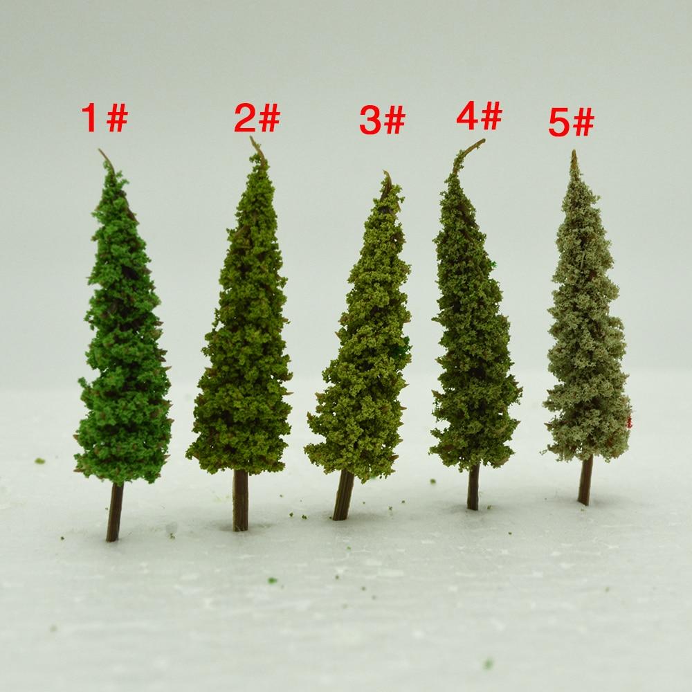 6.5cm artificial Plastic 100Pcs/Set Architecture  ABS plastic mini scale model trees for railroad train layout