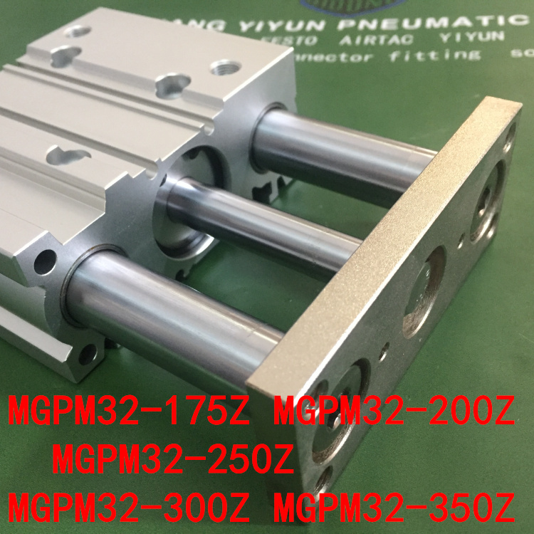 MGPM32-175Z MGPM32-200Z MGPM32-250Z MGPM32-300Z MGPM32-350Z  MGPL  Pneumatic components  Thin three Rod Guide Pneumatic CylinderMGPM32-175Z MGPM32-200Z MGPM32-250Z MGPM32-300Z MGPM32-350Z  MGPL  Pneumatic components  Thin three Rod Guide Pneumatic Cylinder