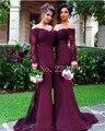 Mãe da Noiva Vestidos de Decote Em V Vestido de Noite Até O Chão Vestidos de Festa Chiffon Apliques Sereia Sexy Sem Encosto