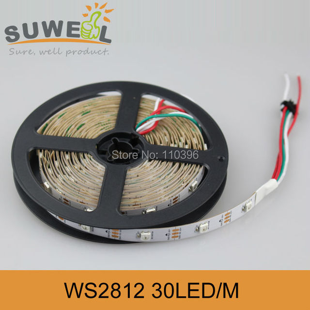 Ws2811 Ws2812b Programmable 5050 SMD Rgb Digital strip lights,DC 5v Addressable 30pcs ws2811 IC built-in 5050 Led