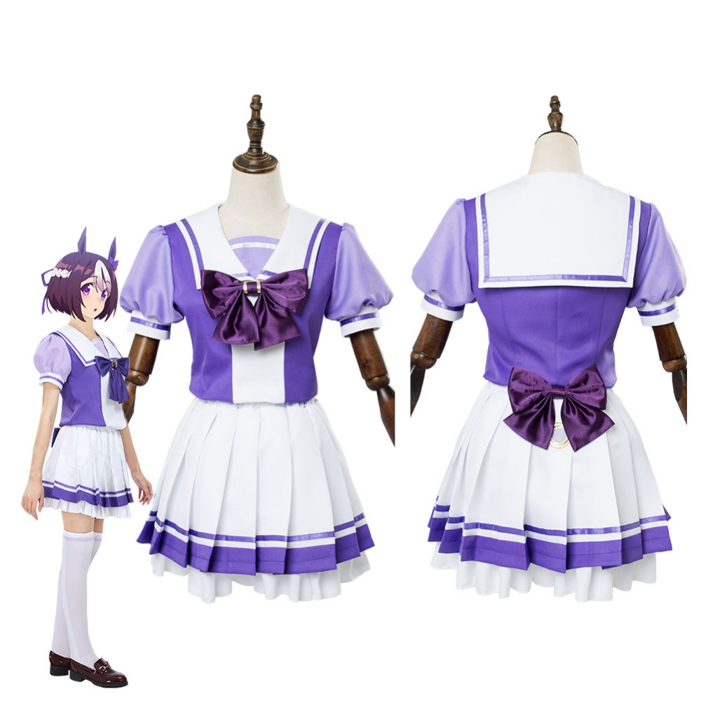 Game Horse Collection Uma Musume Pretty Derby Special Week Suzuka School Uniform Dress Cosplay Costume Custom Made