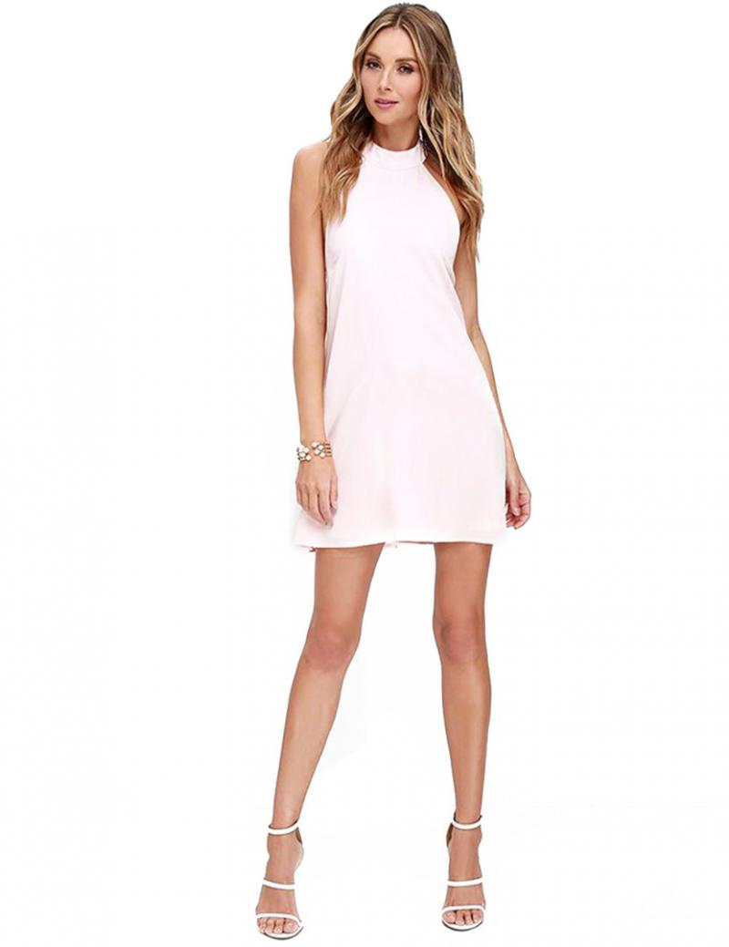 Popular Pink Backless Dress-Buy Cheap Pink Backless Dress lots ...