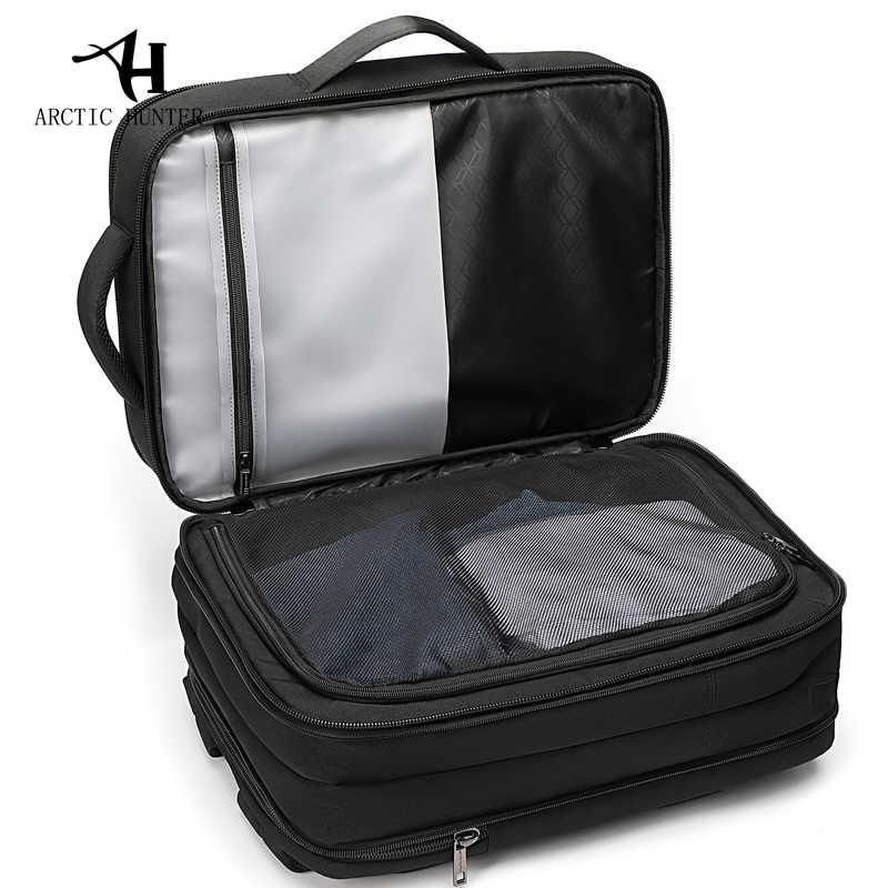 Мужской рюкзак ARCTIC HUNTER, портфель для путешествий, вмещающий ноутбук размером 15,6 дюймов, с USB-зарядкой, многослойный объемный рюкзак