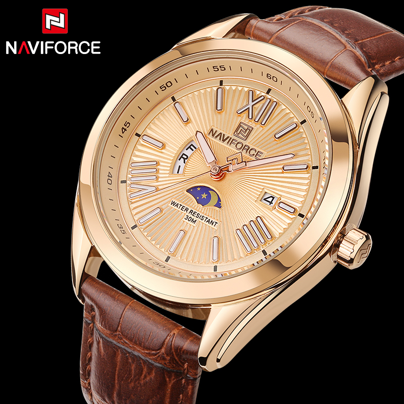 2017 Relogio Masculino Fashion Watch NAVIFORCE Quartz Watch Sport Military Watches Men Luxury Brand Leather Strap Men Clock 9108 xinge top brand luxury leather strap military watches male sport clock business 2017 quartz men fashion wrist watches xg1080