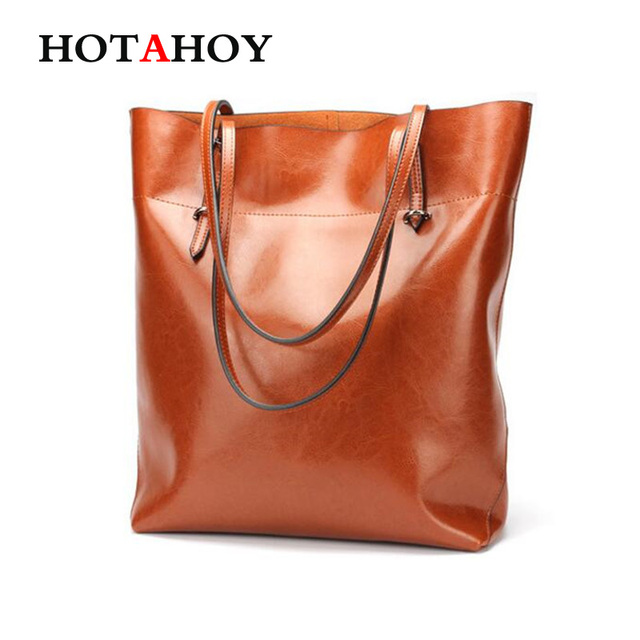 Women Shopping Bag Genuine Leather Female Bag Handbag Fashion Style Cowhide Large Capacity Totes Big Size Ladies Shoulder Bag