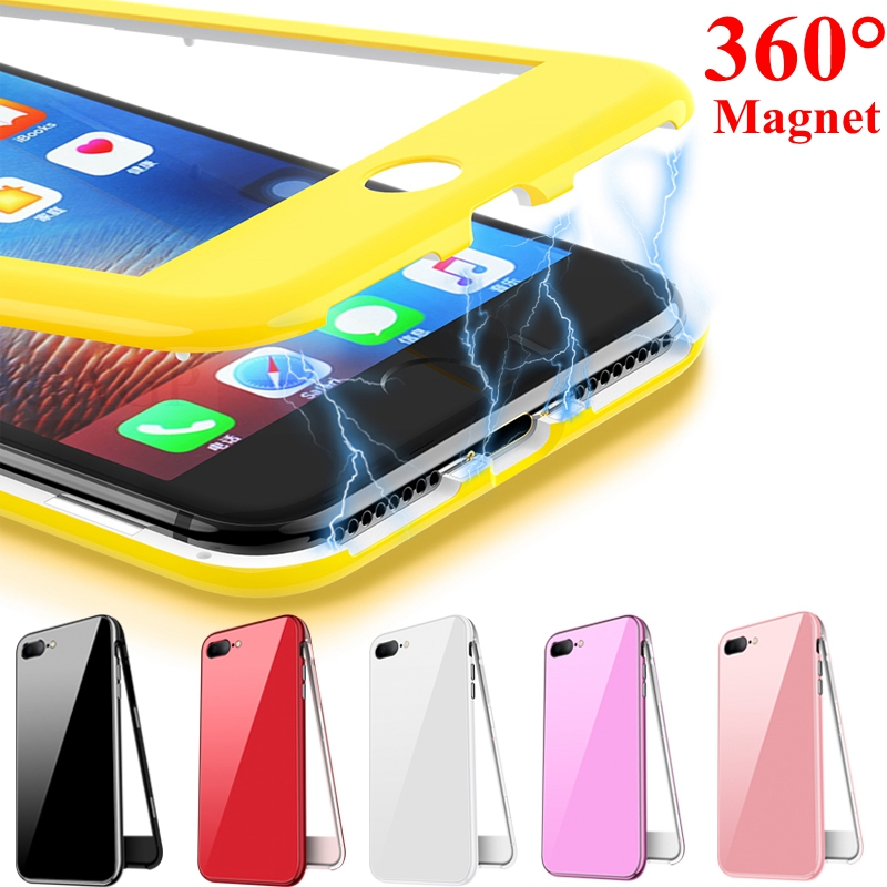 360 Magnetic Adsorption Phone Case for iphone XR XS Max iphone 6s plus 6 s Coque
