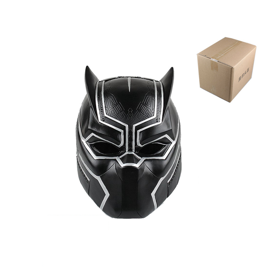 XINDUPLAN Marvel Shield Avengers Black Panther Helmet T Challa Cosplay 1:1 Action Figure Toys 20cm Kids Collection Model 0629 xinduplan marvel shield iron man avengers age of ultron mk45 limited edition human face movable action figure 30cm model 0778