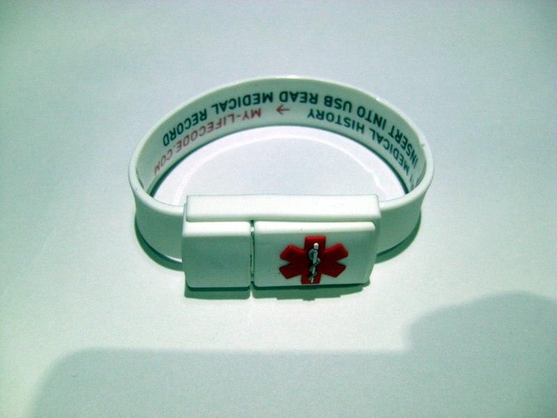 Buckled браслет usb flash драйвер с логотипом печати и водонепроницаемый