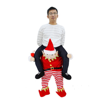 Novelty Santa Claus Costume Ride on Christmas Elf Costume Party Unisex Mascot Costumes Funny Cosplay Suit Carnival Women Disfraz