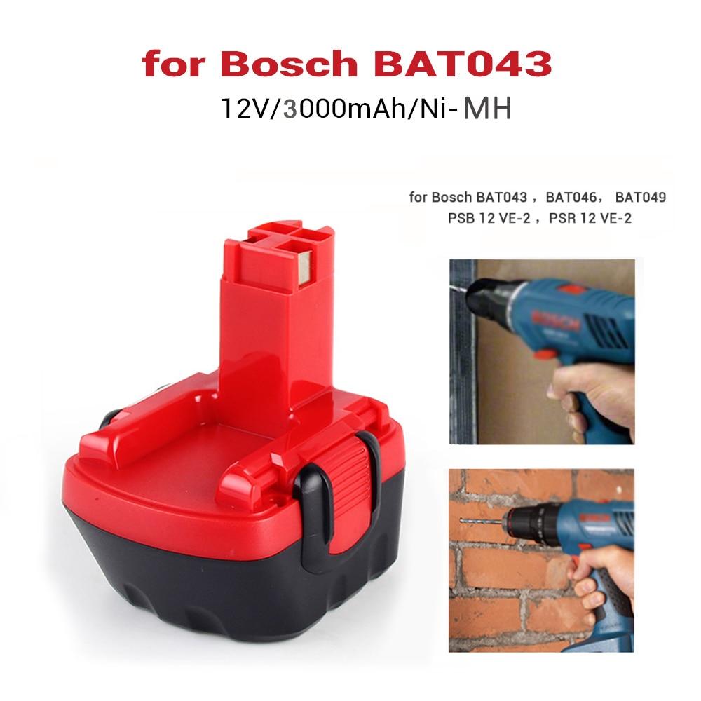 3000mAh Akku für Bosch GSB12VE-2 PSR 12VE-2 PSB 12 VE-2 GSR 12-1 GSR 12-2 BAT043