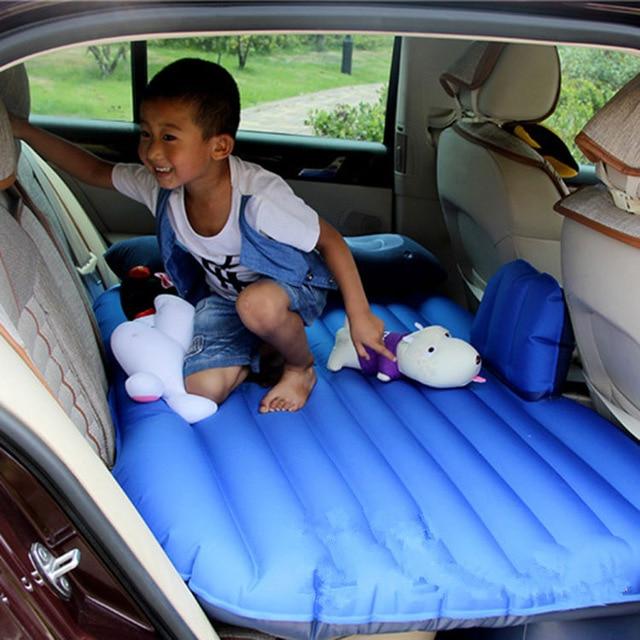 bil fordon chock säng automatisk säng La AUTO bil luftmadrass AUTO chockmadrasser uppblåsbara flockning bil sängar säte täcker PVC