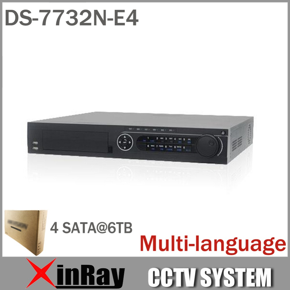 Multi language Version DS 7732N E4 32CH NVR for IP Camera Network Video Recorder 4SATA for