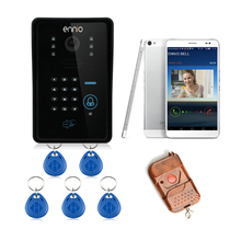 RFID Access Control Touch Card Reader WiFi DoorBell Wireless Video Door Phone For Home Intercom System IR Camera WIFI002IDS