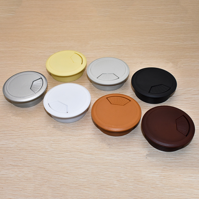 2pcs Hot ABS Desk Wire Hole Cover Base 50mm Office Desk Grommet Table Cable Outlet Port Wire Rack Organizer Furniture Hardware